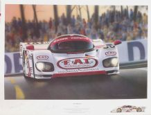 PORSCHE 962 GT Le Mans 1994  Ltd ed by TOM BUCHER. SIGNED by Haywood & Baldi & Artist